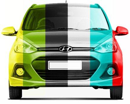 multicoloured Hyundai car
