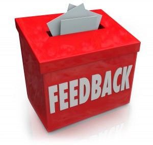 Red feedback box