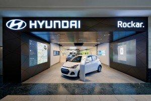 The first Hyundai Rockar digital car showroom