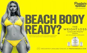 Protein World's 'beach body' ad
