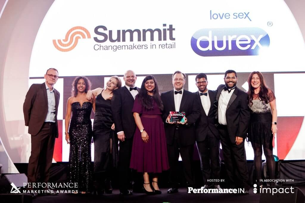The Summit Team accepting the Performance Marketing Award