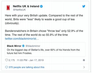 Netflix bandersnatch tea tweet