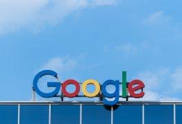 Google Logo Blue Sky